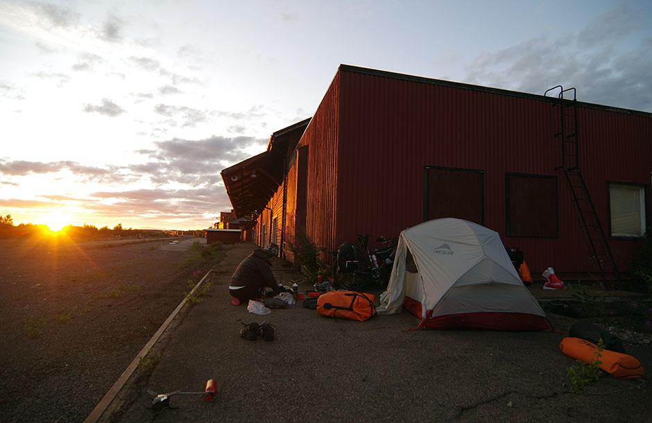 La vieille gare de Kiruna où nous avons squatté une coupe de nuits...