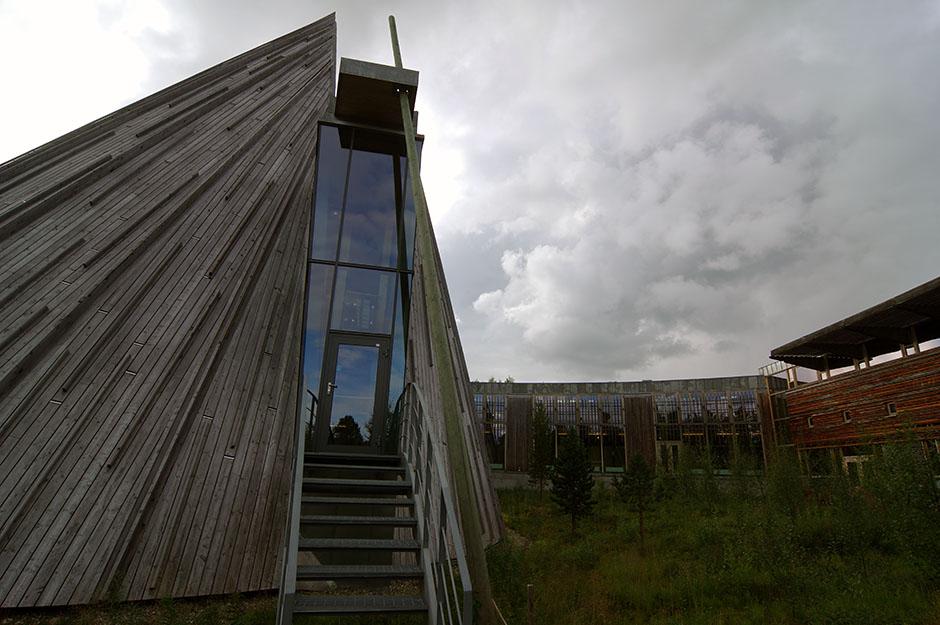Porte d'entrée de l'Assemblée du Parlement Sami de Norvège. Finnmark.