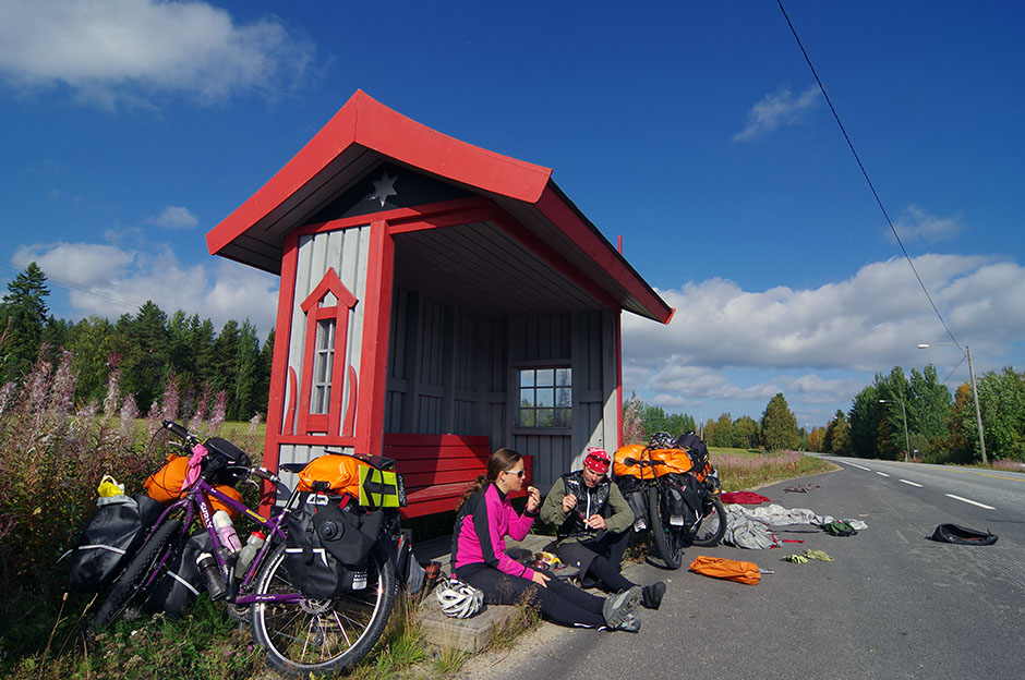 Pit stop en route vers Sodankylä. Lappi.